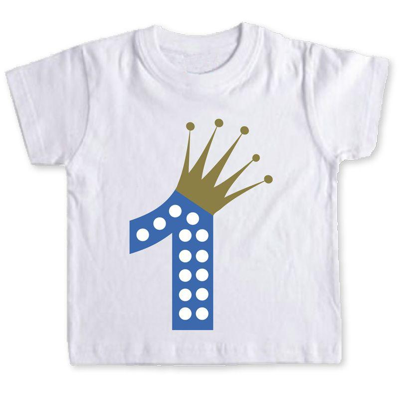 lindo baratas verdadero negocio cómo hacer pedidos Camiseta primer cumpleaños azul