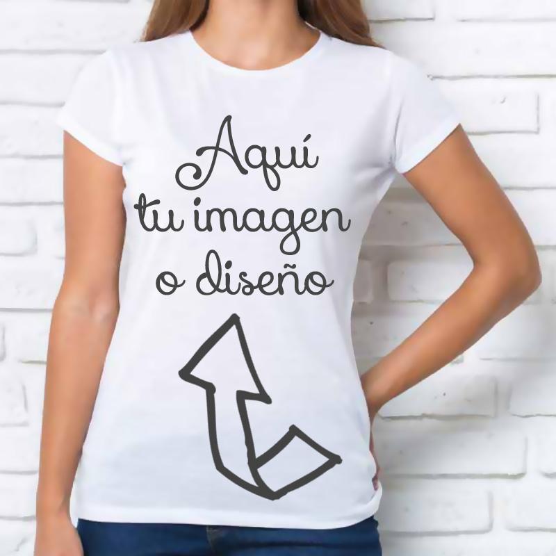 Camisetas mujer  Camiseta mujer PERSONALIZADA fb22983125d09