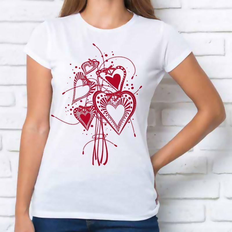 Camiseta 'corazones Divertidos' Camiseta Divertidos' 'corazones Camiseta Mujer Mujer fYb6yv7g